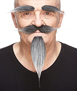 Mustaches Self Adhesive, Novelty, Hairy Russian Fake Beard, Fake Mustache and Fake Eyebrows, Costume Accessory for Adults