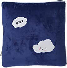 اثنين في واحد وسادة ديكور مع بطانية - كحلي