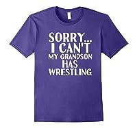 Grandpa Grandma My Grandson Has Wrestling Shirts Purple