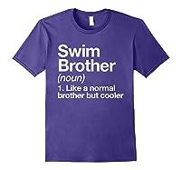 Swim Brother Definition Funny Sports T-shirt Purple