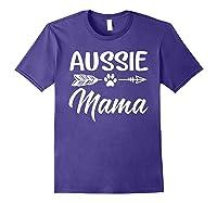 Aussie Mama Dog Mom Cute T-shirt Purple