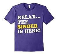 Relax Funny Singer Shirt Job Gift Lazyday Purple