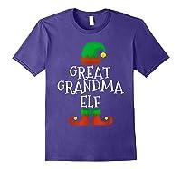 Great Grandma Elf Christmas Funny Xmas Gift Shirts Purple
