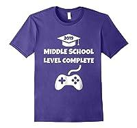 Funny Middle School Graduation Video Gamer Tshirt Purple