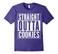 Straight Outta Cookies Distressed Vintage Funny Shirts Purple