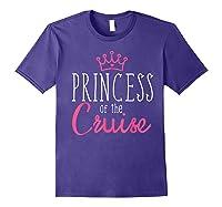 Princess Cruise Cruising Vacation Ship Girl Embark Shirts Purple