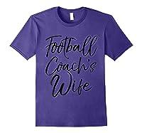 Football Coach\\\'s Wife Shirt Vintage Proud Spouse Tee Purple