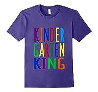Kindergarten King Back To School Child's Shirts Purple