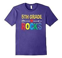 5th Grade Rocks Cute Back To School Tea Gift Premium T-shirt Purple