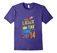 Laser Tag Gift King Is 14 Shirts Purple