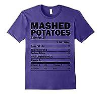 Mashed Potato Nutrition Funny Matching Christmas Costume Shirts Purple