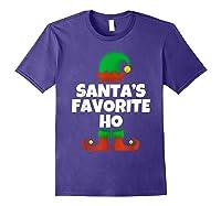 Santa's Favorite Ho Funny Family Christmas Gift T-shirt Purple