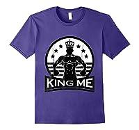 Grand Arte: King Me Boxing T-shirt Purple