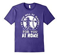 Baseball Mom Apparel Baseball Dad Merchandise Premium T-shirt Purple