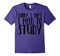 Funny Studying Shirt Finals Week College Student Study Gift Purple
