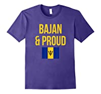Bajan Proud Barbados Flag Caribbean Shirts Purple