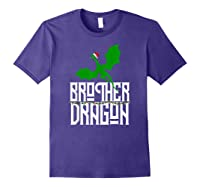 Brother Dragon Christmas Shirt Matching Family Tribe Son Boy T-shirt Purple