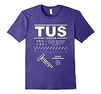 Tucson International Airport Arizona Tus T-shirt Purple