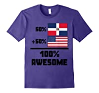 50 Dominican Republic 50 American 100 Awesome Funny Flag Shirts Purple