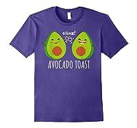 Cute Toast For Trendy Millennials Shirts Purple