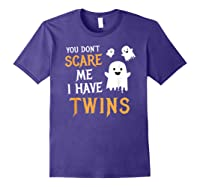 Funny Parents Of Twins Shirt Halloween Gift Purple
