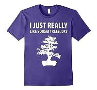 Like Bonsai Trees Anime Japanese Culture Zen Gift Shirts Purple