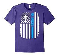 Va Nurse Distressed American Flag Short Sleeve Tshirt Purple