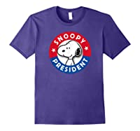 Peanuts Snoopy For President Shirts Purple