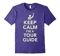 Keep Calm I\\\'m A Tour Guide T-shirt Purple
