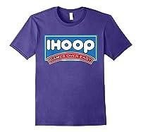 Ihoop Fun Basketball Shirt - Games Over Easy Graphic T-shirt Purple