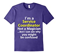 Funny Service Coordinator Job Career Client Occupation Gift Shirts Purple