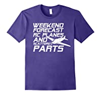 Rc Plane T-shirt For Guys Rc Planes And Scattered Parts Purple