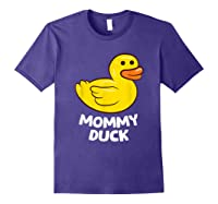 Funny Mommy Duck Rubber Duck T-shirt Purple