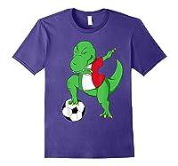 Dabbing Soccer T-rex Mexico Shirt - Mexican Football Purple