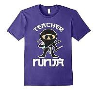 Ninja Tea Cool Art Teaching Lover Gift Shirts Purple