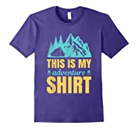 Hiking Outdoor Lover Mountains Hiker Shirts Purple