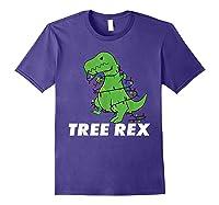 Tree Rex Christmas T Rex Dinosaur Christmas Gift Shirts Purple