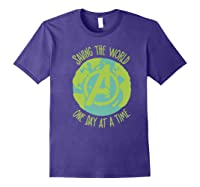 Earth Day Saving The World One Day At A Time Shirts Purple