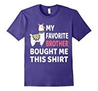 My Favorite Brother Bought Me This Shirt Christmas Gift Llam T-shirt Purple