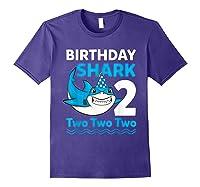 Birthday Shark 2017 2 Years Old Gift For Boy Girl Shirts Purple