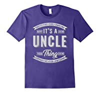 Family 365 Father\\\'s Day Gift - It\\\'s A Uncle Thing Relative T-shirt Purple