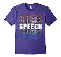 Speech Therapy School Therapist Language Pathologist Shirts Purple