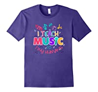 I Teach Music To Tiny Humans Musical Tea T-shirt Purple