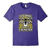 Viking Training For Ragnarok Gym Shirts Purple