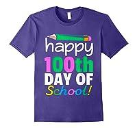 100th Day Of School Grade Tea Shirts Purple