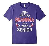Proud Grandma Of A 2018 Senior Graduate Graduation 18 Shirts Purple