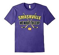 Smashville Nashville Proud Hockey Shirts Purple