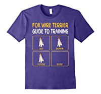 Wire Fox Terrier Guide To Training Dog Obedience T-shirt Purple