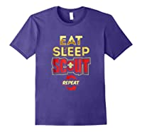 Eat Sleep Scout Repeat Funny Scouting Gift Shirts Purple