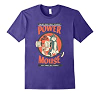 Tom And Jerry Power Mouse T-shirt Purple